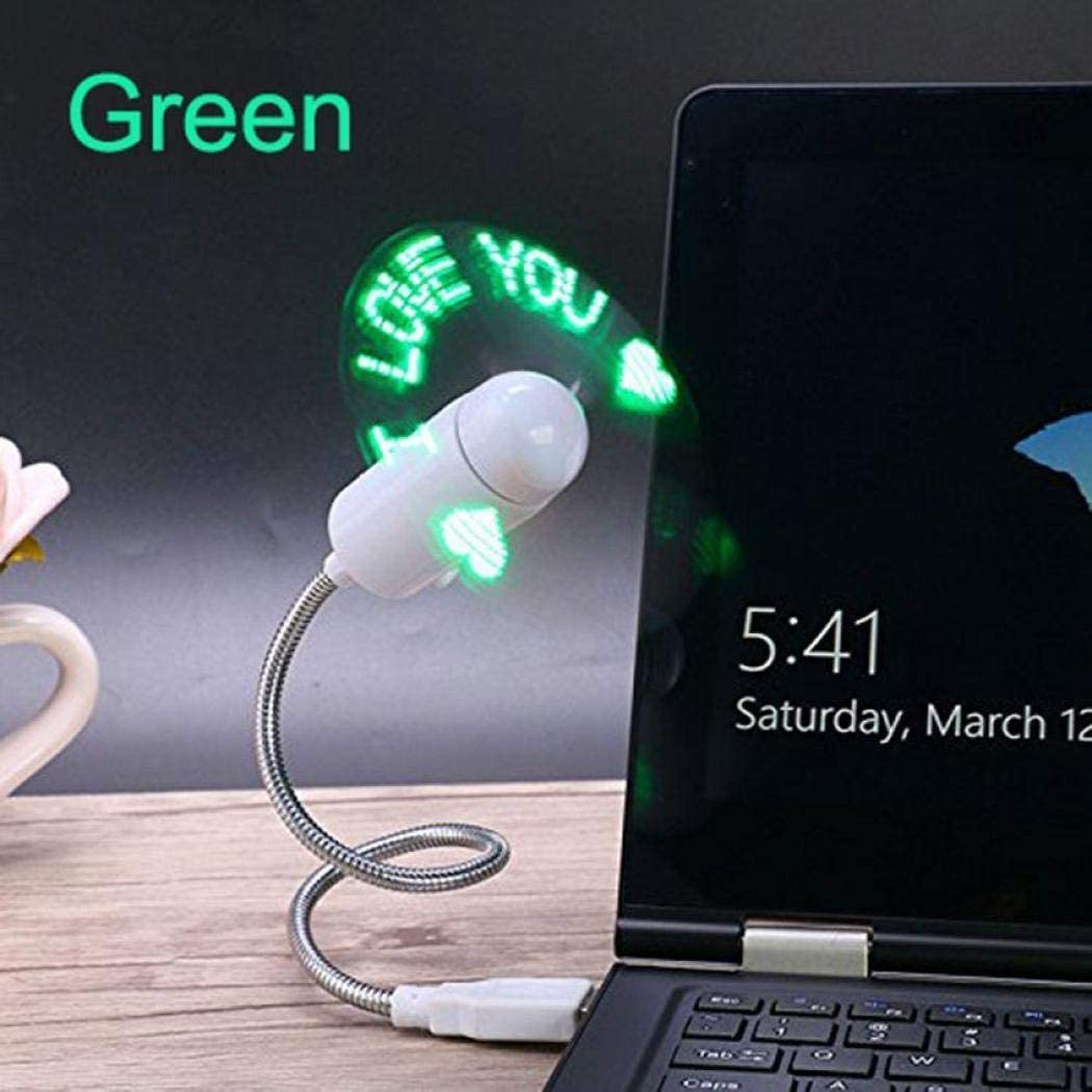 Zronji Mini Laptop LED Light Fans USB PC Desktops Fans Personal Fans