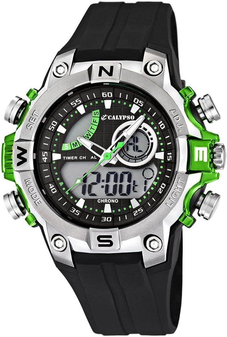 Calypso K5586 - Reloj de Pulsera para Hombre (Cuarzo, plástico, con Alarma, cronógrafo, para Todos los Modelos)
