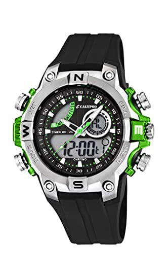 Calypso watches K5586/3 - Reloj Hombre Analógico-Digital Sumergible, color negro
