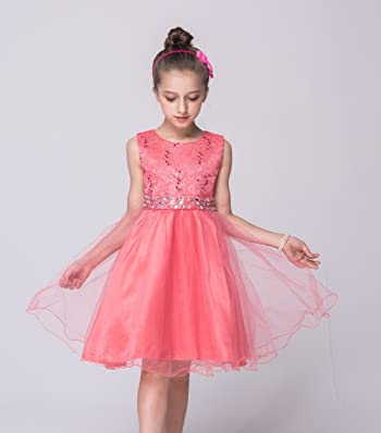 Girl Dress Girls Dresses Kids Frocks Sundress for Party Wedding Pageant Special Occasion Summer