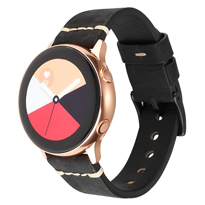 LBYZCAS Soft Leather Watch Strap 20mm 22mm Wristband Sport Replacement Watch Band Women and Men