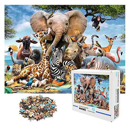 1000 PCS Jigsaw Puzzles - Animal World