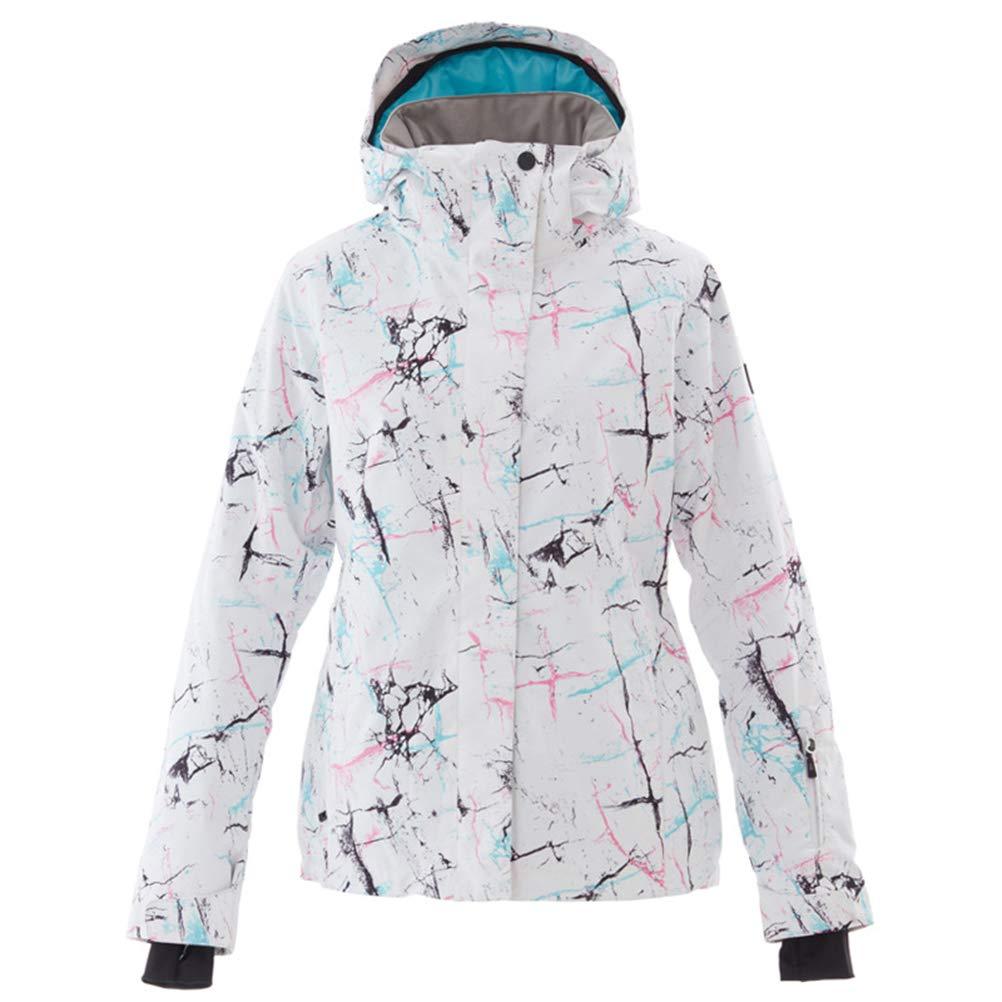 Auplew Frauen Ski Jacken, Outdoor Advanced Damen Allwetter Funktionsjacke, Ski/Snowboard, Freizeitjacke mit vielen Taschen