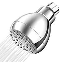 YVZUL High Pressure Shower Head,3 Inch Anti-clog Anti-leak Fixed Chrome Showerhead With Filter For Hard Water,Adjustable brass Ball Joint with Filter,Ultimate Shower Experience Even at Low Water Flow
