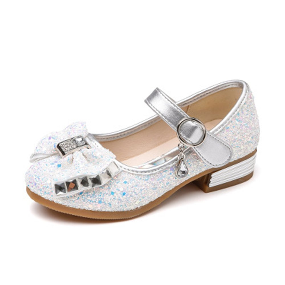Blue30//12 M US Little Kid Facnyww Girls/' La Bright Latin Dance Shoes Sweet Princess Sandals Bowknot Magic Stick Summer Sandals with Lovely Sequins