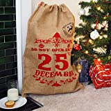 Nicola Spring Christmas Stocking, Hessian Gift Sack - Do Not Open Until 25th December