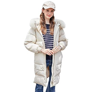 Amazon.com: Nat terry Women Fur Collar Winter Down Coat Jacket Long Warm Casaco Feminino Abrigos Mujer Invierno Outwear Coats: Clothing