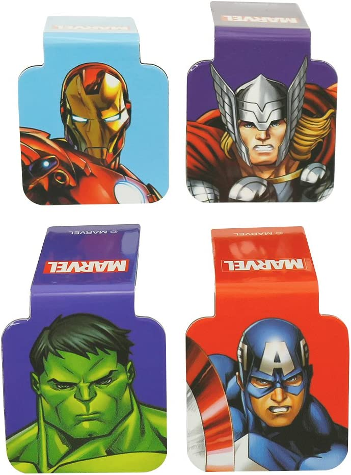 Ata-Boy Marvel Comics Avengers Superheroes Juego de 4 marcadores magn/éticos de 2,5 cm