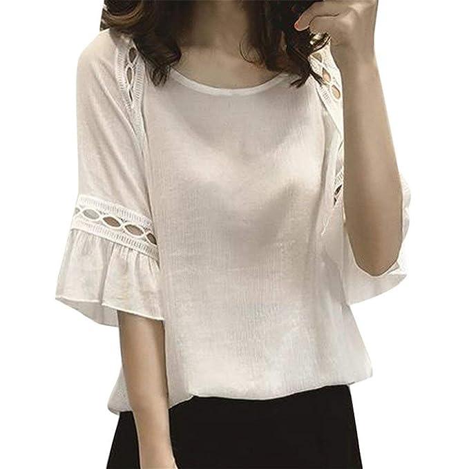 salida online buscar autorización de calidad superior Mujer Blusas Verano Elegante Chiffon Camisas Modernas Casual ...