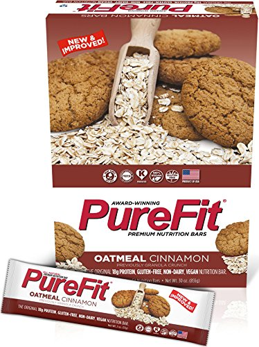 PureFit Gluten-Free Nutrition Bars with 18 grams Protein: Oatmeal Cinnamon, 2 oz Bars, Pack of 15 (Formerly Granola (Cinnamon Crunch Granola)