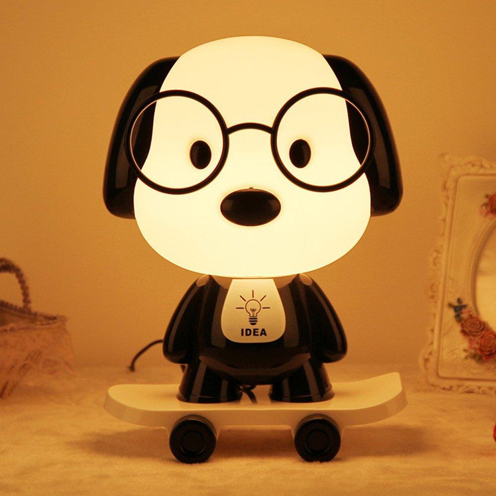 Amazing Led Night Light Bedside Lamp For Breastfeeding Cute Skateboarding Dog Cartoon Animal Desk Download Free Architecture Designs Scobabritishbridgeorg