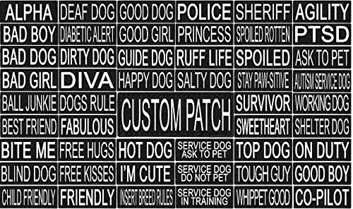 Agility Dog Collar (101 Outlets Personalized Custom Removable Patch Label Tag For Dog Harness and Collar Agility Dock Diving Sport Dog (2in x 6in))