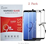 2 Pack of Galaxy S9 Plus Tempered Glass Screen Protector, Case Friendly Edge to Edge Saver Full Coverage Protective Cover Clear Film for Samsung Phone S9+ (for S 9+, not for S 9)