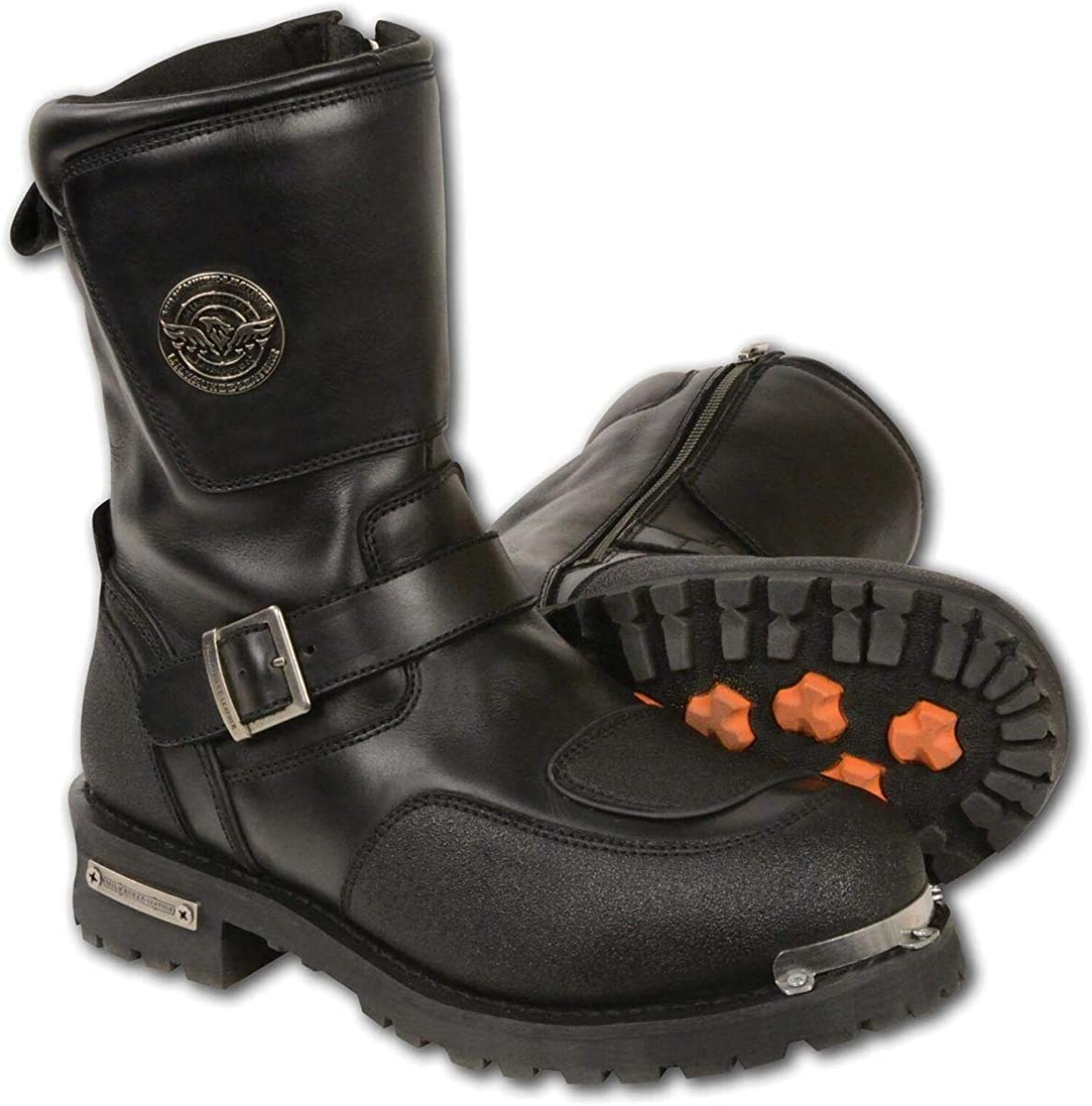 Milwaukee Leather MBM9070 Men's Black Max 61% New life OFF with Boots Engineer Reflec