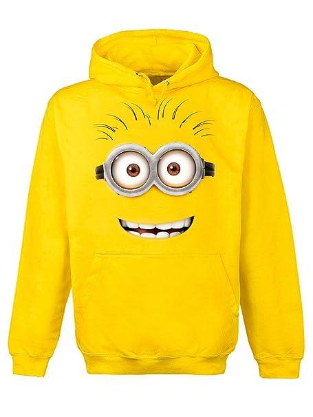 Gru 2, mi villano favorito - sudadera con capucha de minion de ojos saltones - algodón - amarilla - XXL: Amazon.es: Ropa y accesorios