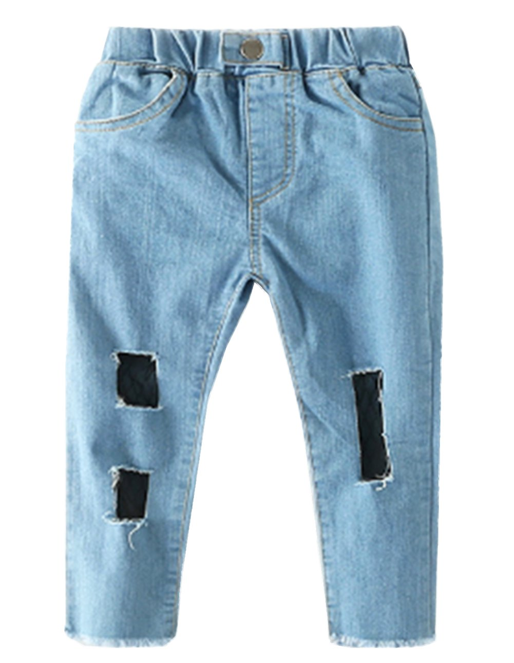 stylesilove Chic and Fun Girls Skinny Jeans with Mesh Lining (100/3-4 Years)