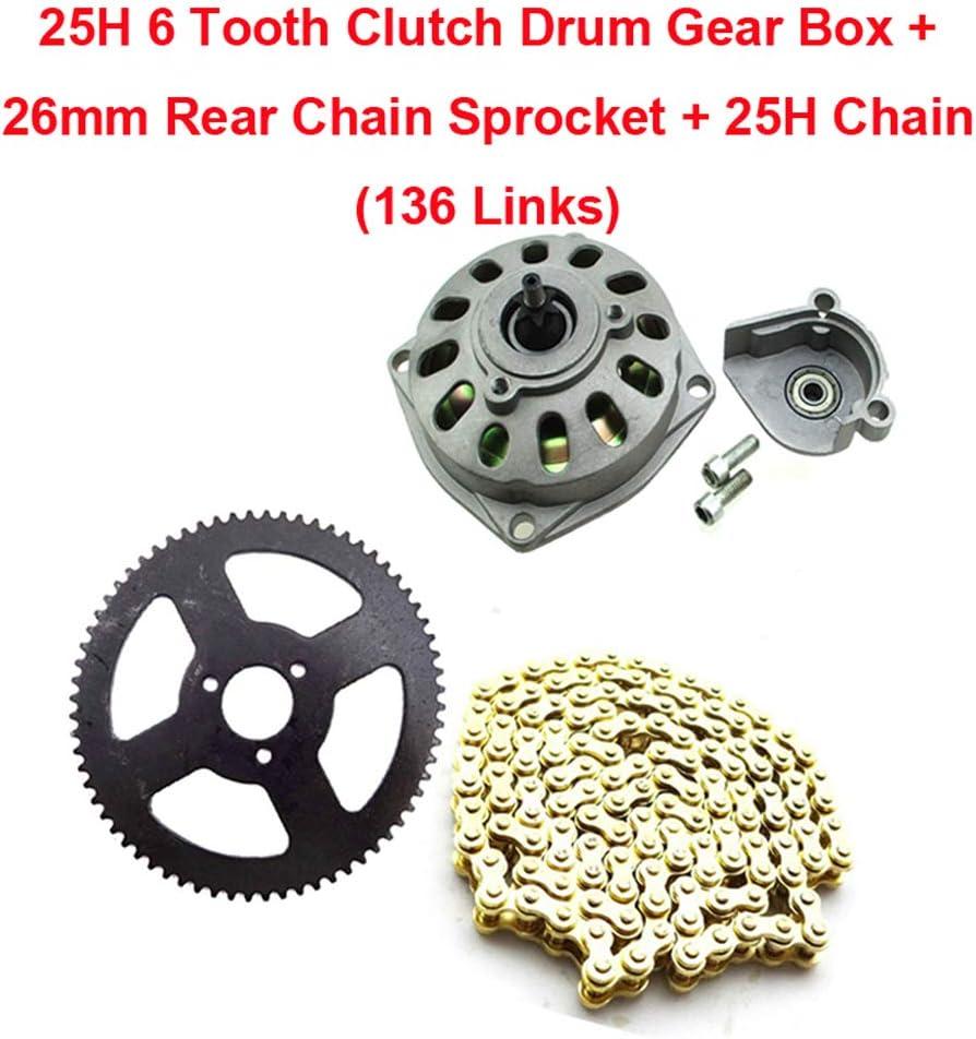 68T Rear Sprocket for 47cc 49cc ATV Quad Mini Chopper Dirt Bike 25H Chain