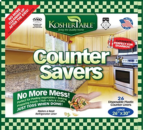 eDayDeal Disposable Counter Liners- Pack Of 25 Plastic Kitchen Counter Covers For Easy Cleanup After Food Prep- Foldable, Versatile Kitchen Countertop Protectors- Top Time Savers