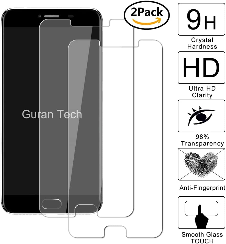 2 Unidades] Guran® Protector de Pantalla Vidrio Cristal Templado ...