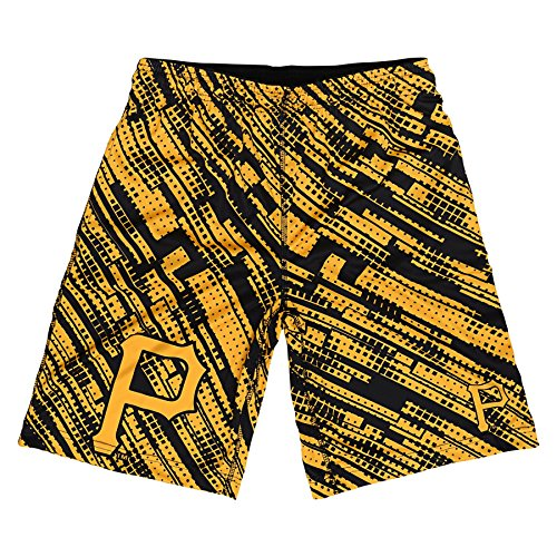 MLB Pittsburgh Pirates Youth Boys Printed Shorts, Yellow/Black, Large ()