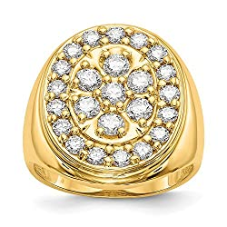 14k VS Diamond men's ring Diamond quality VS (VS2 clarity, G-I color)