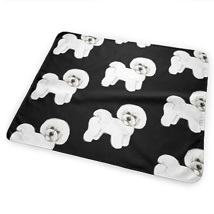 Amazon com: SDERY79 Bichon Frise Portable Changing Pad