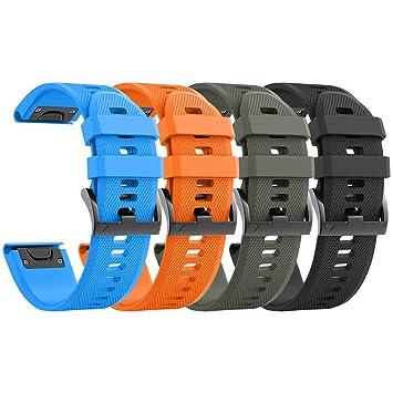 NotoCity Compatible con Correa Garmin Fenix 5/Fenix 5 Plus/Fenix 6/Fenix 6 Pro/Forerunner 935/Forerunner 945, Easy Fit 22 mm Pulsera Fitness de ...