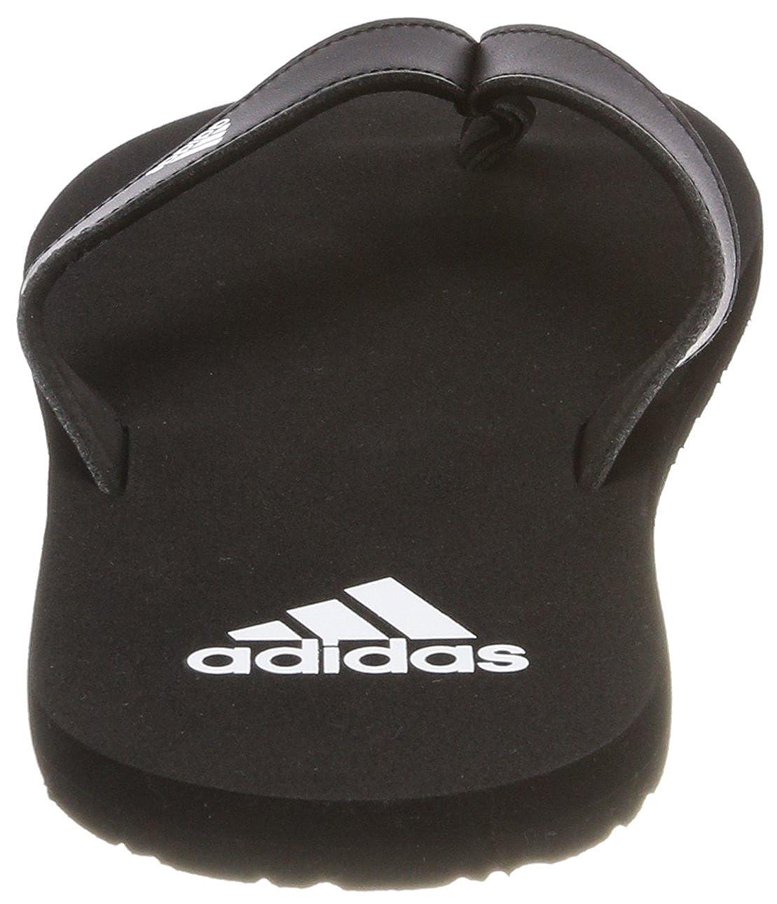 3a3004a23f4ee Amazon.com: adidas Eezay Essence Thong Sandals [Black/White] - 10 UK ...