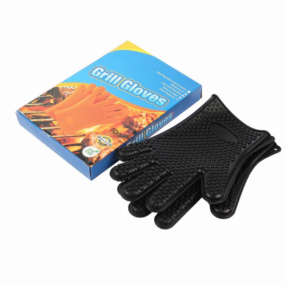 Amazon.com : eDealMax Guantes Barbacoa resistente al calor ...