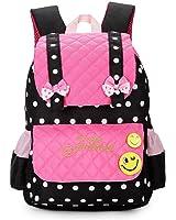 EssVita Sac à dos enfant Impermeable Sacs d'ecole primaire fille cartable Style B Rose + Noir
