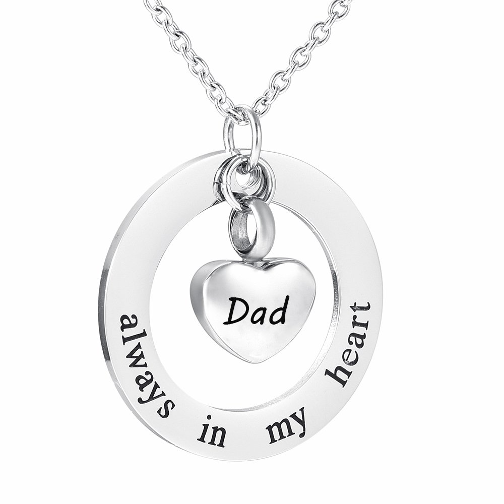 Foreverlove Memorial Jewelry Daddy/mommy Memorial Necklace,Stainless steel pendant