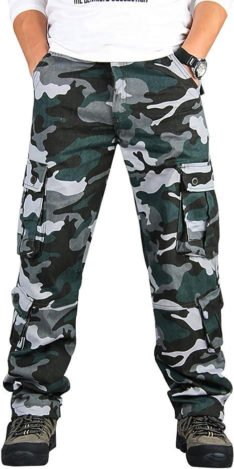 Pocket Mens Zeetoo Camo Work Military Relaxed Combat Fit Multi Cargo Pants OXTuwkPZi