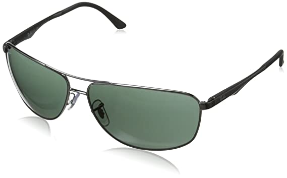 polarized ray ban  ray ban rb3506 gunmetal frame green lenses 64mm non polarized