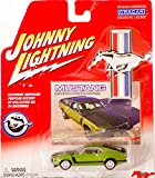 2000 - Playing Mantis - Johnny Lightning - Mustang 40th Anniversary - #11 / 1970 Ford Mustang Boss 302 - Green - 1:64 Scale Die Cast Metal - w/ Photo Collector Card - Out of Production - New - Rare - Collectible