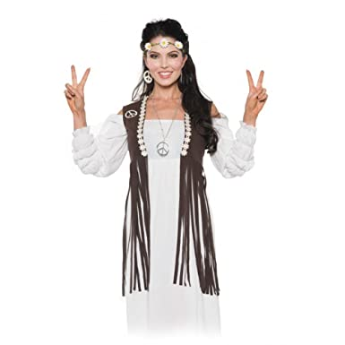 Fringed Hippie Vest Adult Costume - One Size  sc 1 st  Amazon.com & Amazon.com: Fringed Hippie Vest Adult Costume - One Size: Clothing