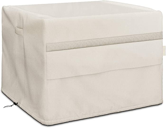 MR. COVER 44 inch Square Table Cover for Fire Pit, Patio Table, Dining Table, Heavy Duty Waterproof Cover for Square Outdoor Furniture, Thickness Material - 44 L x 44 W x 24 H