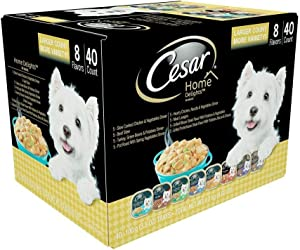 Cesars Home Delights Wet Dog Food, 8 Flavor Variety Pack in Sauces (3.5 oz, 40 ct.) -2 Packs