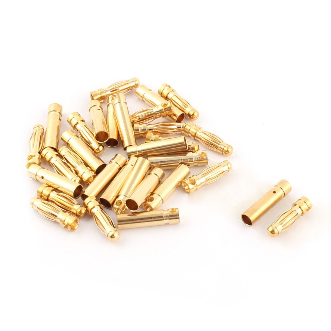 OliYin 30pairs 3.5mm Gold Plated Male Female Banana Plug Bullet Connector Replacements for ESC Battery and Motor