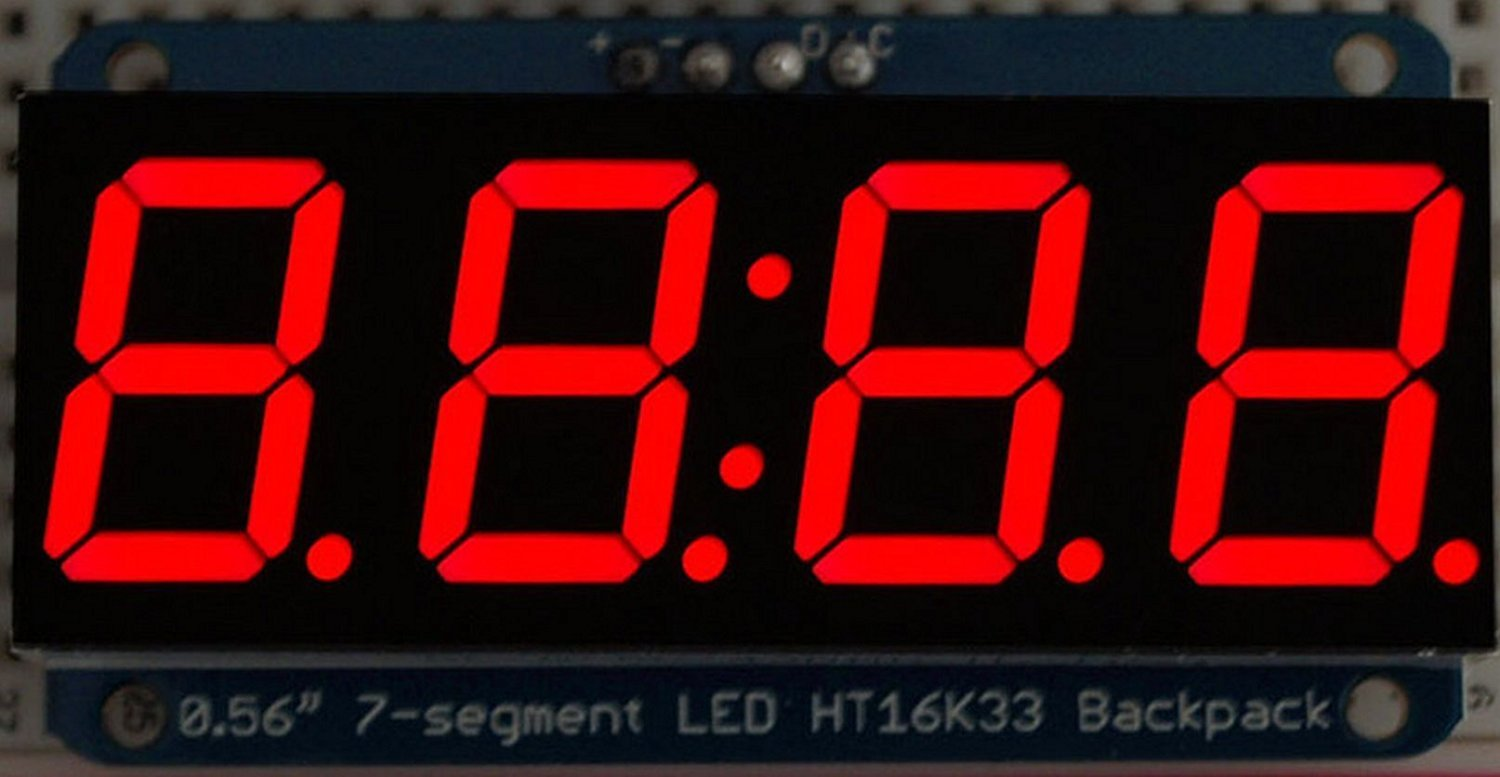 Adafruit 0.56' 4-Digit 7-Segment Display w/I2C Backpack - White [ADA1002]