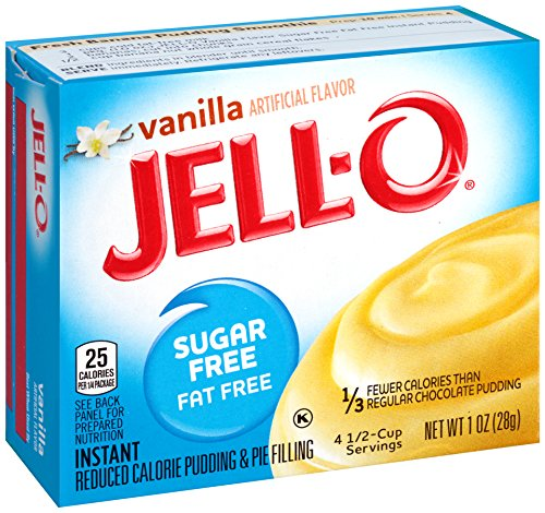 JELL-O Vanilla Sugar Free Instant Pudding & Pie Filling Mix (1 oz Box) (Jello Pie Low Fat)