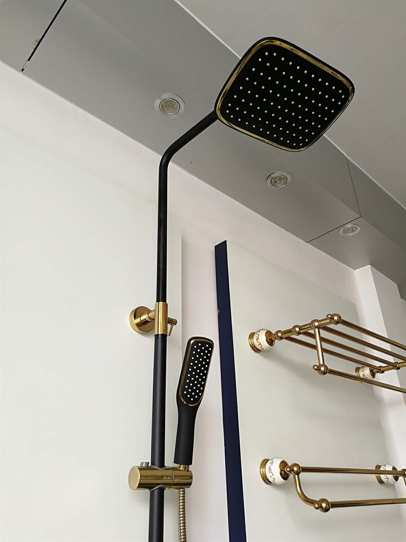 国産品 B07KF6NB9Xシャワーシステム、浴室シャワーミキサーセットシンプルな壁掛けシャワーセットすべての銅黒蛇口シャワーバスルームシャワーセット B07KF6NB9X, フェアリーチェPlus:0d55edfe --- arianechie.dominiotemporario.com