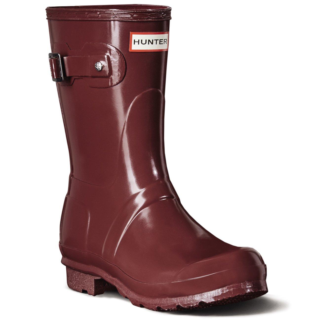 9338d24eab9a Hunter Women s Boots Original Original Original Short Gloss Snow Rain Boots  Water Boots Unisex - Black - 8 B00WPSZZ8C 5 B(M) US