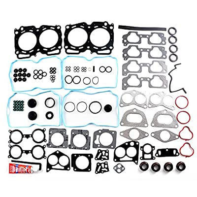 SCITOO Compatible fit for Cylinder Head Gasket Kits 04-09 Subaru Impreza Forester Legacy Saab 2.5L SOHC Engine Cylinder Head Gaskets Automotive Replacement Gasket Set