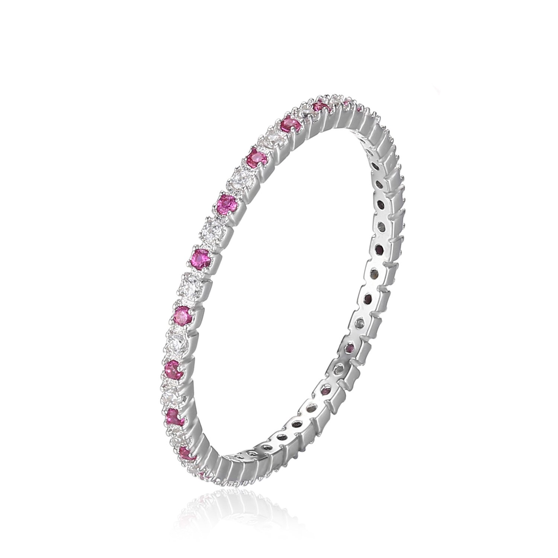 JewelryPalace Magnifique Bague Femme en Argent Sterling 925 Fashion Alliance Mariage Fiancaille