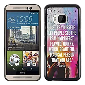 Impact Case Cover with Art Pattern Designs FOR HTC One M9 Be Yourself Kuli Holiday Indian Text White Betty shop