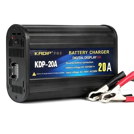 12V Cargador De Batería De Coche De 24V, 20A LCD Pantalla ...