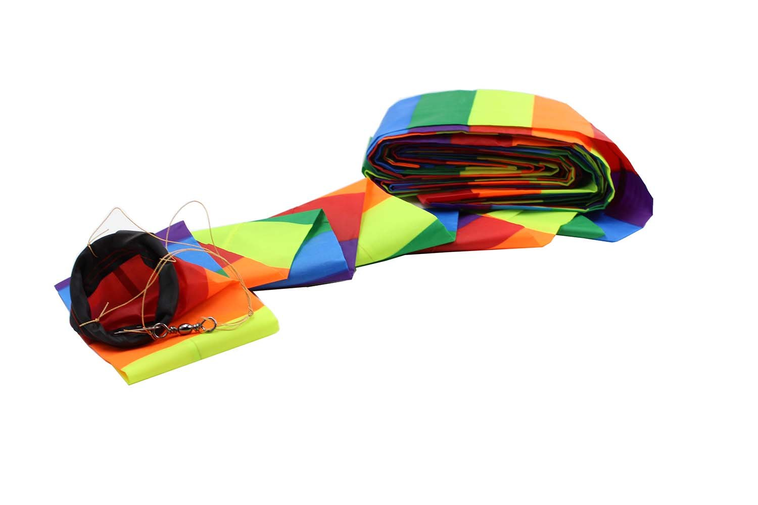 Rainbow Tube Tail /Wind sock with connector ,65-Foot