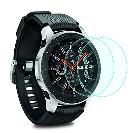 Compatible with Samsung Gear S3 & Samsung Galaxy Watch 46mm Screen Protector [2 Pack],YiJYi Full-Coverage Tempered Glass Screen Protector [9H ...