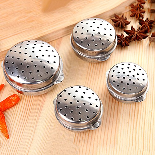 Reusable Stainless Steel Tea Infuser Filter Bag Seasoning Balls 4 Size Strainers