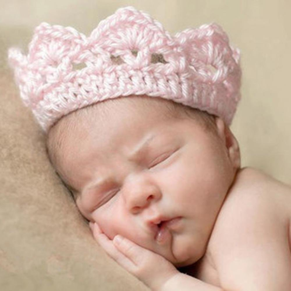 Amazon.com  Shhanghe Fashion Cute Crochet Crown Knit Accessories Headband  Hat Newborn  Baby 89142951aa0